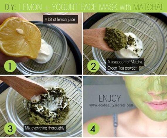 Lemon + Yogurt Face Mask with Matcha!